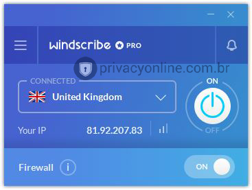windscribe INTERFACE
