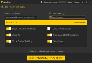 cyberghost navegaçao anonima