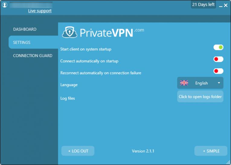 private vpn configuraçoes