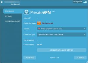 privatevpn analise interface avançada